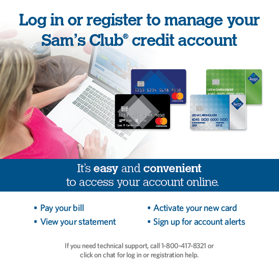 Samsclub Com Credit Login >> Manage Your Sam S Club Credit Card Account