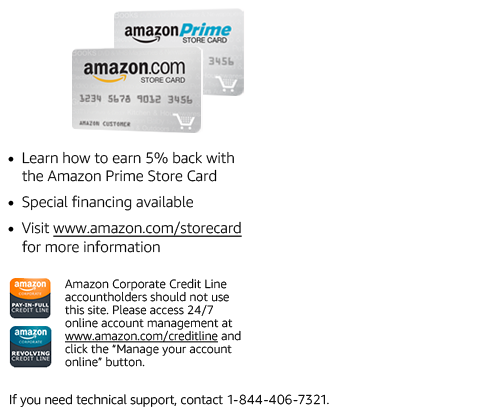Synchrony Bank Credit Cards >> Manage Your Amazon Credit Card Account
