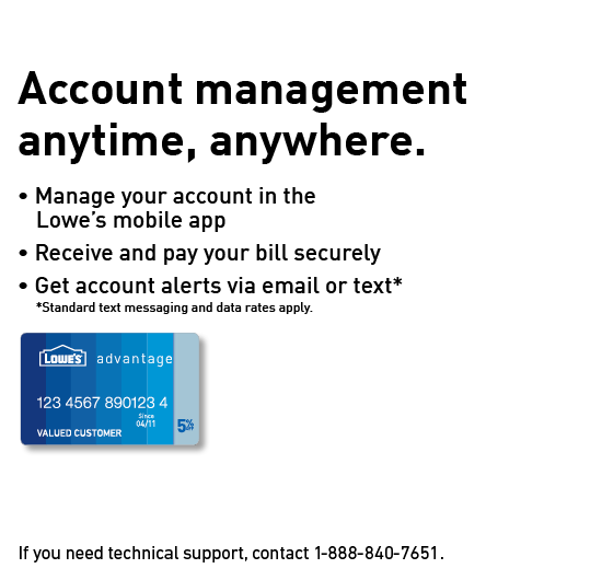 Manage Your Lowe's Credit Card Account